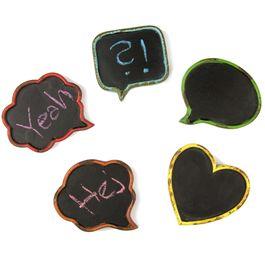 Leitjes mini koelkastmagneten om te beschrijven, in used look, set van 5