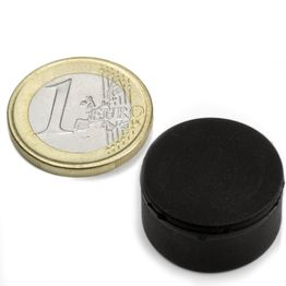 S-20-10-R Disc magnet rubber coated Ø 22 mm, height 11,4 mm, water-proof, neodymium, N42