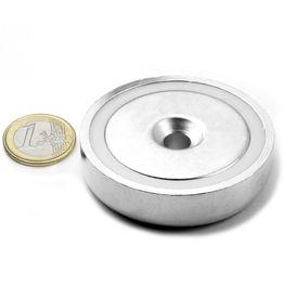 CSN-60 Magnete con base in acciaio con foro svasato Ø 60 mm, tiene ca. 130 kg,