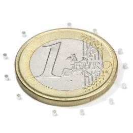 S-01-01-N Disco magnético Ø 1 mm, alto 1 mm, sujeta aprox. 31 g, neodimio, N45, niquelado