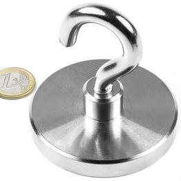 FTN-75 Hook magnet Ø 75 mm, thread M10, strength approx. 130 kg