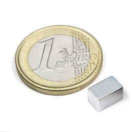 Q-08-05-05-Z Bloque magnético 8 x 5 x 5 mm, neodimio, N45, galvanizado