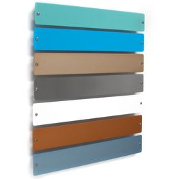 Metal strip 'Element Small' 35 cm surface for magnets, to screw on, incl. 6 strong magnets, in different colours