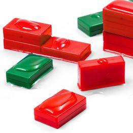 M-BLOCK-01 Parallélépipèdes magnétiques avec enrobage en matière synthétique, étanche, lot de 5 pcs., dans différentes couleurs