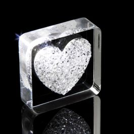 Diamond Heart fridge magnet Heart, with Swarovski crystals