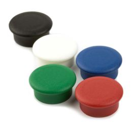 Office magnets 'Boston Xtra Mini' round holds approx. 1,5 kg, noticeboard magnets neodymium, Ø 20 mm, set of 10, in different colours