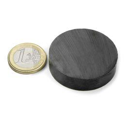 FE-S-40-10 Disco magnético Ø 40 mm, alto 10 mm, ferrita, Y35, sin revestimiento