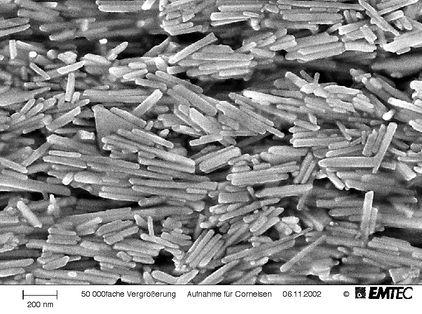 Partículas magnéticas en una cinta magnética Foto © EMTEC, Willstätt