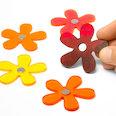 Flores magnéticas de colores estivales, 5 uds.