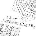 Para etiquetar estanterías metálicas, 120 caracteres por hoja A4, Set de 2 piezas, blanco
