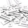 Palabras, sílabas y signos de puntuación, 510 piezas, disponible en diferentes idiomas