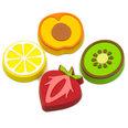 Imanes decorativos con forma de frutas, 4 uds.