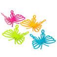 Imanes decorativos con forma de mariposa, 4 uds.