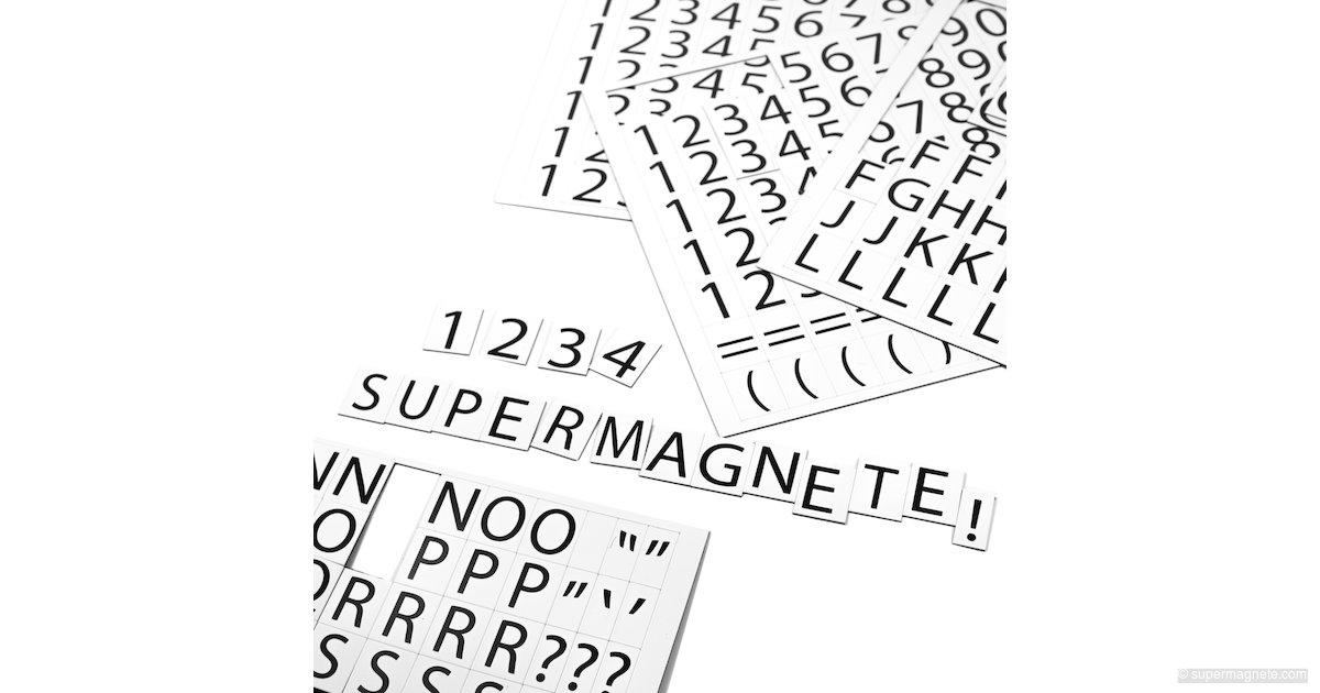 Cifras y letras magnéticas para pizarras blancas y etiquetar ...