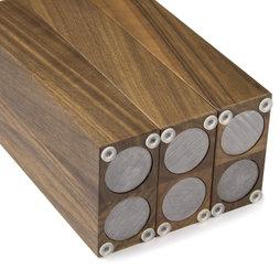 Bloque portacuchillos magn tico de madera - Iman para cuchillos ...