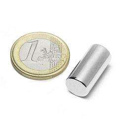S-10-20-N, Cilindro magnético Ø 10 mm, alto 20 mm, neodimio, N45, niquelado