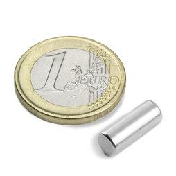 S-05-14-N, Cilindro magnético Ø 5 mm, alto 13,96 mm, neodimio, N45, niquelado