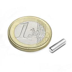 S-03-10-N, Cilindro magnético Ø 3 mm, alto 10 mm, neodimio, N45, niquelado