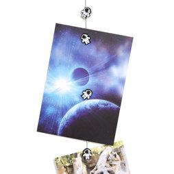 FL-11, Cordón para fotos «Astronauta» 1${dec}5 m, con lazo y peso de acero, incluye 8 imanes