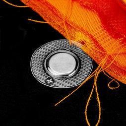 M-SEW-02, Magneti da cucire 12 x 2 mm rotondi, con guaina rotonda in PVC