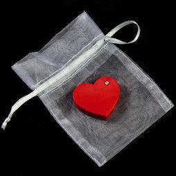 LIV-90, Red Heart, imán de nevera «Corazón», con circonita