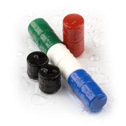 M-DISC-01, Discos magnéticos con funda de plástico Ø 9,4 mm, 10 uds. por set, varios colores