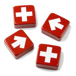 SALE-097, Swiss & Arrow, imanes decorativos con cruces y flechas, 4 uds.