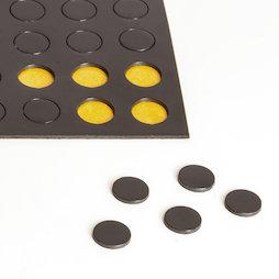 MS-TAKKI-04, Takkis redondas 10 mm, plaquitas magnéticas adhesivas, 60 plaquitas por hoja