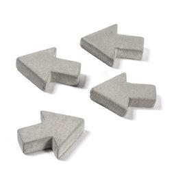 LIV-97/concrete1, Imanes de hormigón, flecha, 4 uds.