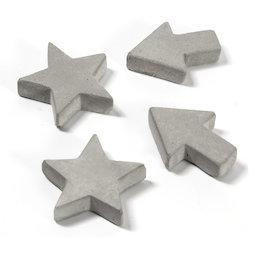 LIV-97, Imanes de hormigón, en tres formas diferentes, 4 uds.