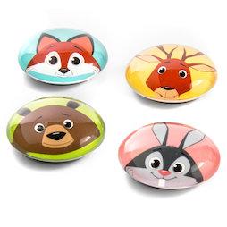 LIV-105, Funimals, botones magnéticos con graciosas caritas de animales, 4 uds.