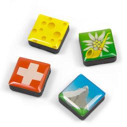 SALE-053/swiss, Iconos, imanes decorativos cuadrados, 4 uds., Suiza