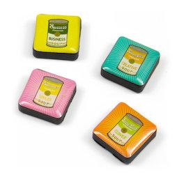 SALE-053/soup, Iconos retro soup, imanes decorativos cuadrados, 4 uds., con diferentes diseños