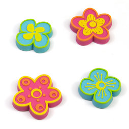 SALE-108, Expression Magnets Flowers, De goma, 4 uds.