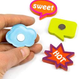 SALE-109, Expression Magnets Fancy, de goma, 4 uds.