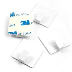 SALE-114, Ganchos de metal adhesivos, cuadrados, blancos, 4 uds., ¡no son imanes!