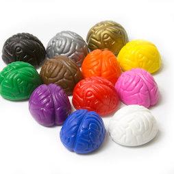 LIV-110, Crazy Brain, imanes decorativos con forma de cerebro, colores surtidos, 12 uds.