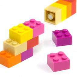 LIV-116, Pizas de colores «Sweet», con imanes en el interior, colores surtidos, 12 uds.