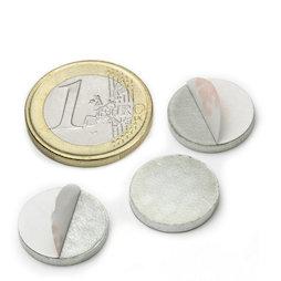 PAS-16, Disco metallico autoadesivo Ø 16 mm, come controparte per i magneti, non è un magnete!