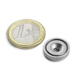 CSN-ES-16, Imán en recipiente avellanado Ø 16 mm, fza. sujec. aprox. 6,9 kg