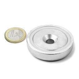 CSN-48, Imán en recipiente avellanado Ø 48 mm, fza. sujec. aprox. 87 kg