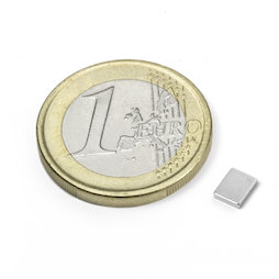 Q-05-04-01-N, Blokmagneet 5 x 4 x 1 mm, neodymium, N50, vernikkeld