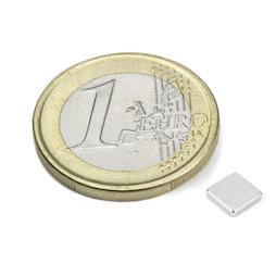 Q-CDM48-N, Bloque magnético 5 x 5 x 1 mm, neodimio, N48, niquelado