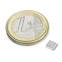 Q-CDM50-N, Bloque magnético 5 x 5 x 1,2 mm, neodimio, N50, niquelado