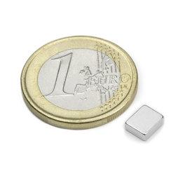 Q-06-05-02-HN, Bloque magnético 6 x 5 x 2 mm, neodimio, 48H, niquelado