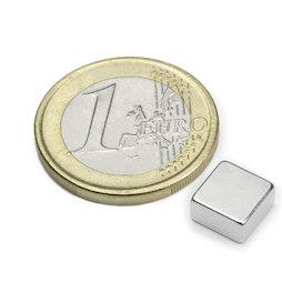 Q-08-08-04-N, Bloque magnético 8 x 8 x 4 mm, neodimio, N45, niquelado