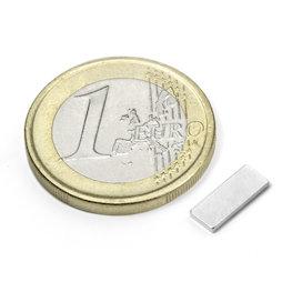 Q-10-04-01-N, Bloque magnético 10 x 4 x 1 mm, neodimio, N50, niquelado