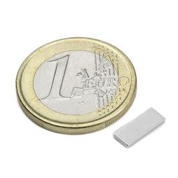Q-10-04-1.2-N, Bloque magnético 10 x 4 x 1,2 mm, neodimio, N50, niquelado