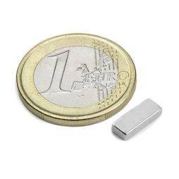 Q-10-04-02-N, Bloque magnético 10 x 4 x 2 mm, neodimio, N50, niquelado