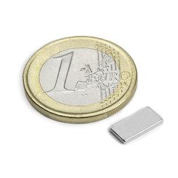 Q-10-05-01-N, Bloque magnético 10 x 5 x 1 mm, neodimio, N50, niquelado